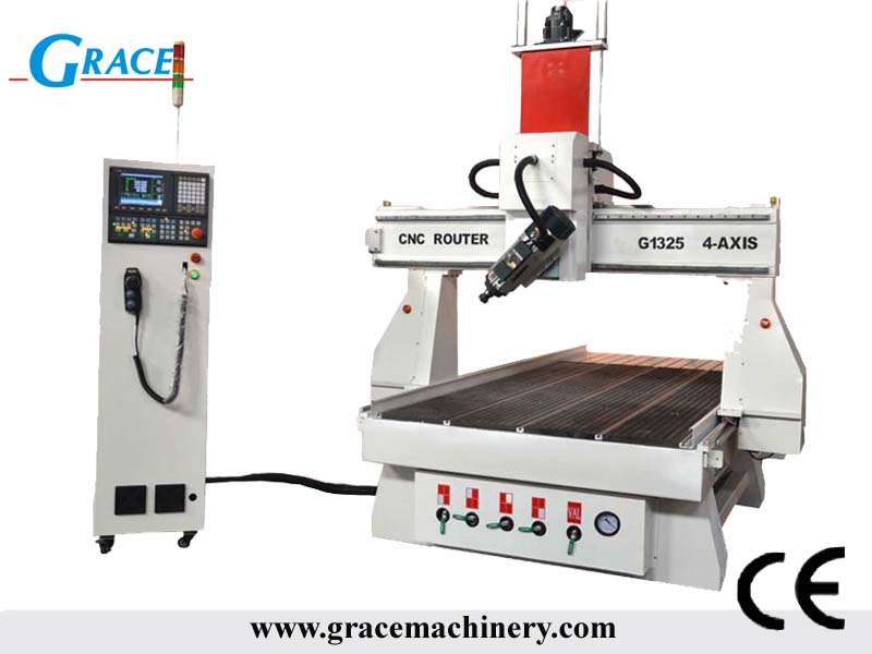 4 axis cnc router 180degree rotating G1325