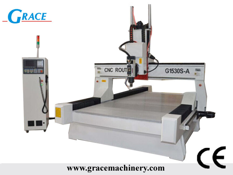 cnc router with rotate +/-180 degree head G1530