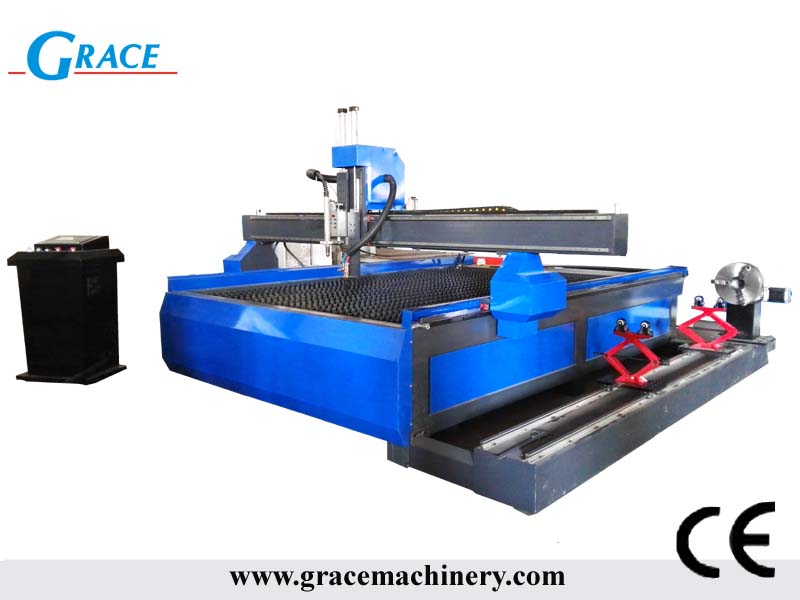 G2030 plasma cutting machine with rotary clamp